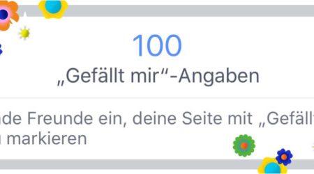 Vielen Dank für 100 Interessierte bei Facebook